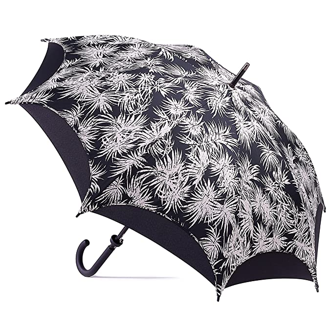 065f90b02 Amazon.com: Black Large Windproof Umbrella Stick - Automatic Open - Strong  - Double Canopy: Raining Style