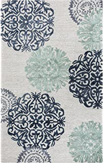 Rizzy Home Eden Harbor Collection Tufted Area Rug, 2u0027 X 3u0027, Navy