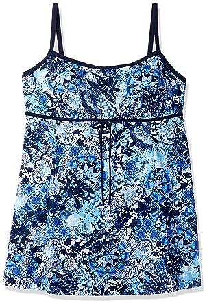502aa8739c10b Shape Solver Women s Swimsuit Zen Garden Empire Swimdress-Plus Size ...