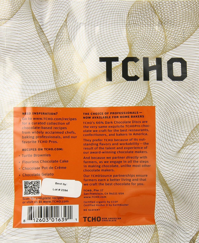 Amazon.com : TCHO Chocolate 66% Dark Chocolate Discs, 8 Ounce ...