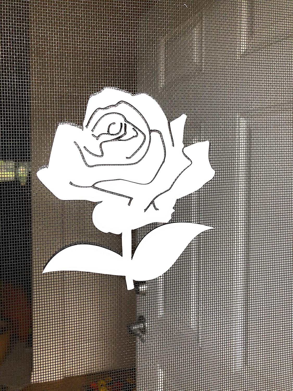 for Non-Retractable Screens Helps to Stop Walking into Screens DCentral Rose Screen Magnet Double-Sided Decor; Multipurpose Size 5 x 5 Covers Small tears in Screens