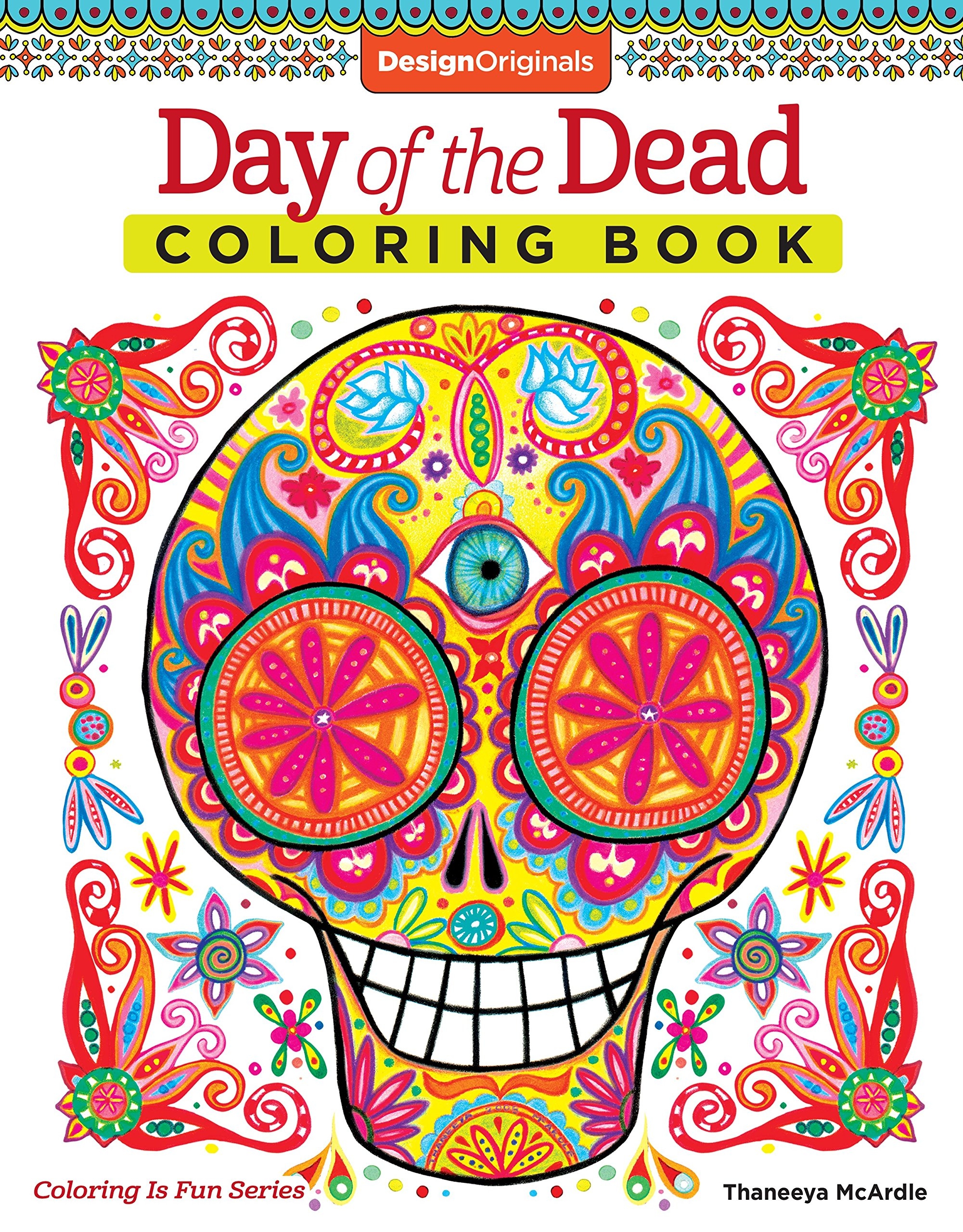 Amazon.com: Day Of The Dead Coloring Book (Coloring Is Fun