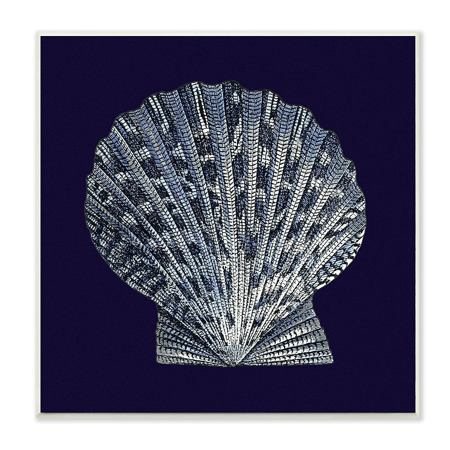 12 X 0 5 X 12 Proudly Made In Usa Stupell Industries Cwp 141 Wd 12x12 Stupell Home Décor Distressed Navy And White Scallop Shell Wall Plaque Art Plaques Home Décor