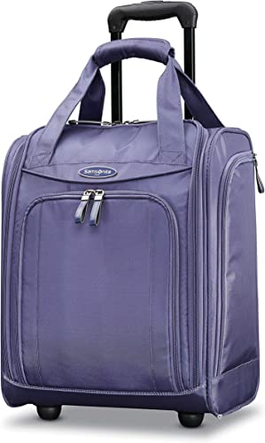 Samsonite Upright Wheeled Carry-On Underseater, Purple Cloud, Large