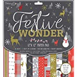 """THE PAPER BOUTIQUE Decorative Papers THE ESSENCE of CHRISTMAS 36 Shts 8/"""" PB1061"""