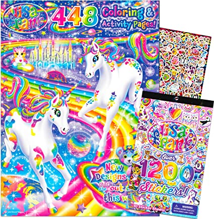 - Amazon.com: Lisa Frank Coloring Book And Stickers Set -- Giant 448 Pg Coloring  Book For Adults Kids And 1200 Stickers: Toys & Games