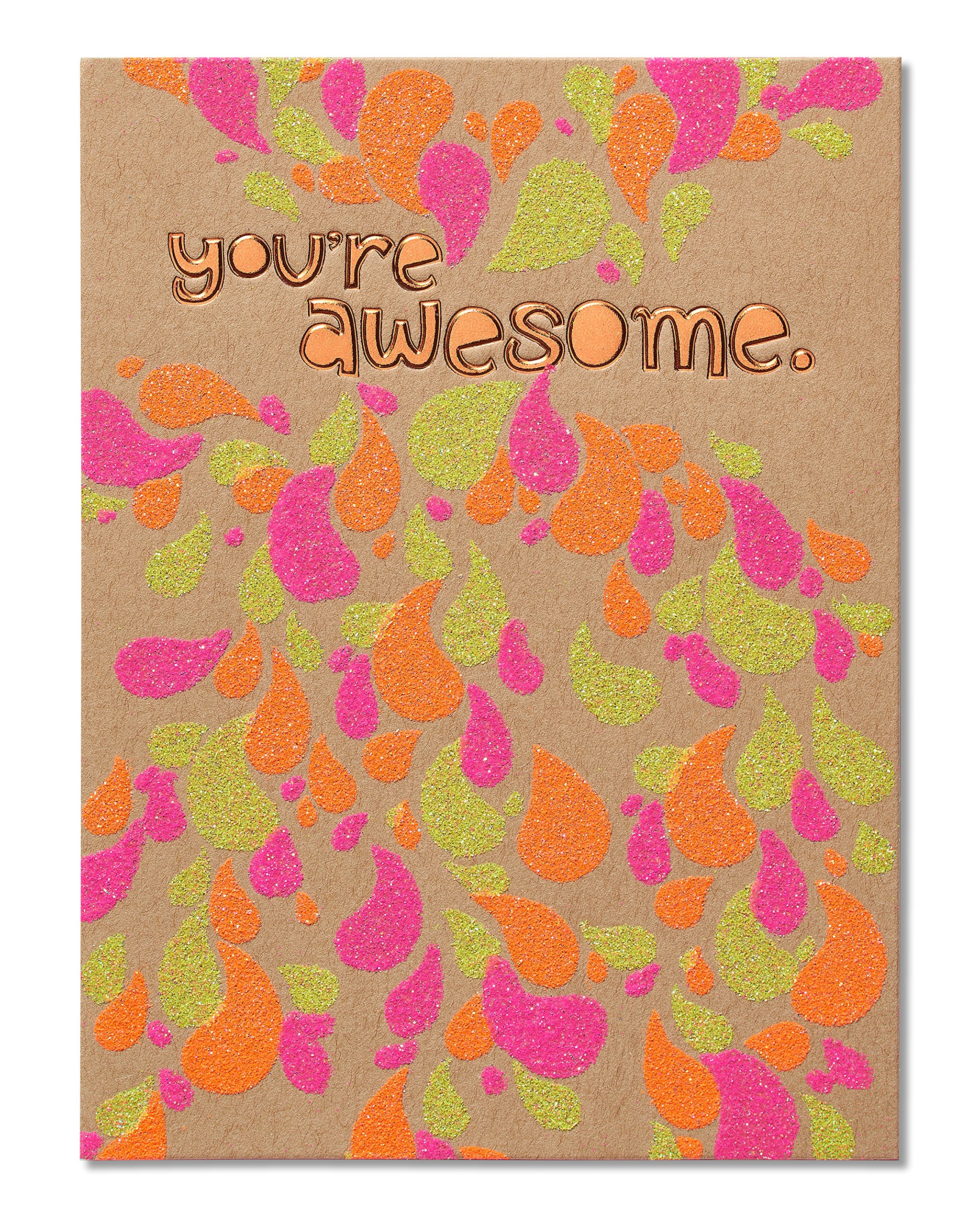 American Greetings You're Awesome Birthday Card with Glitter - 5856772