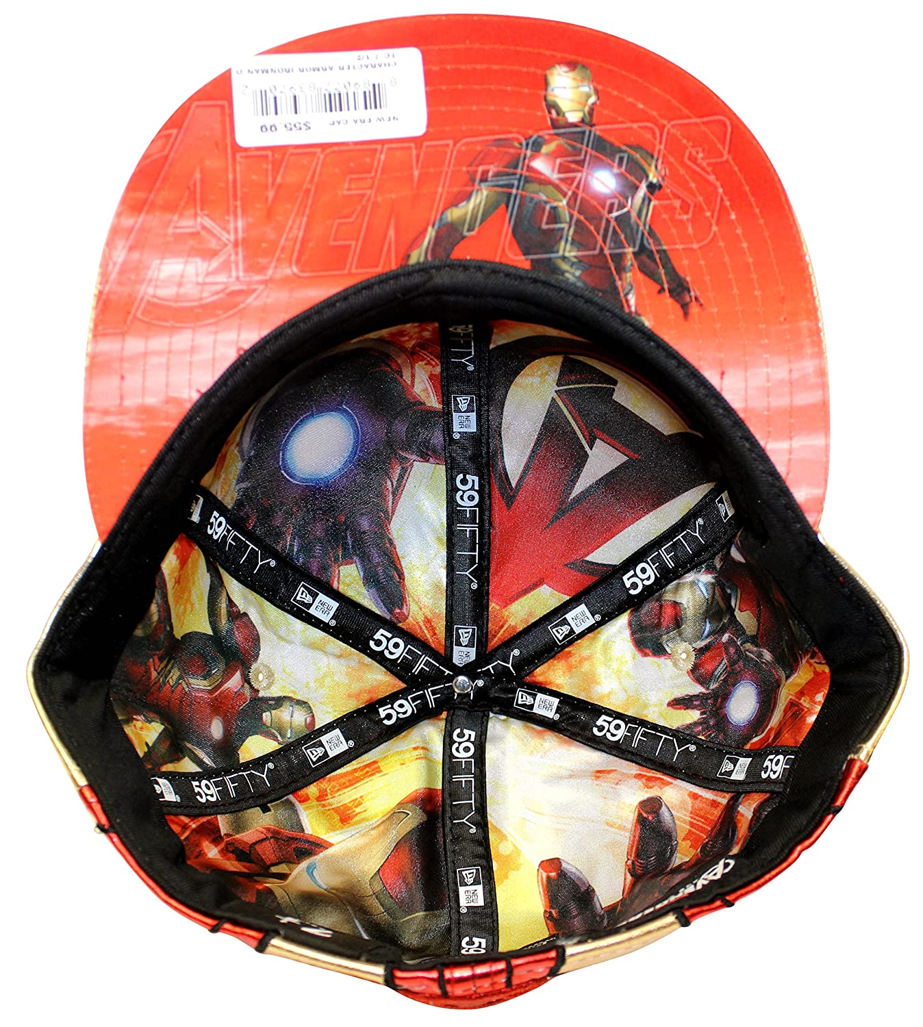191c7408016 New Era 59fifty Character Armor Iron Man Red Gold Fitted Cap (7 1 4) at Amazon  Men s Clothing store