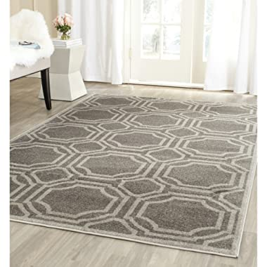 Safavieh Amherst Collection AMT411C Grey and Light Grey Indoor/ Outdoor Area Rug (4' x 6')
