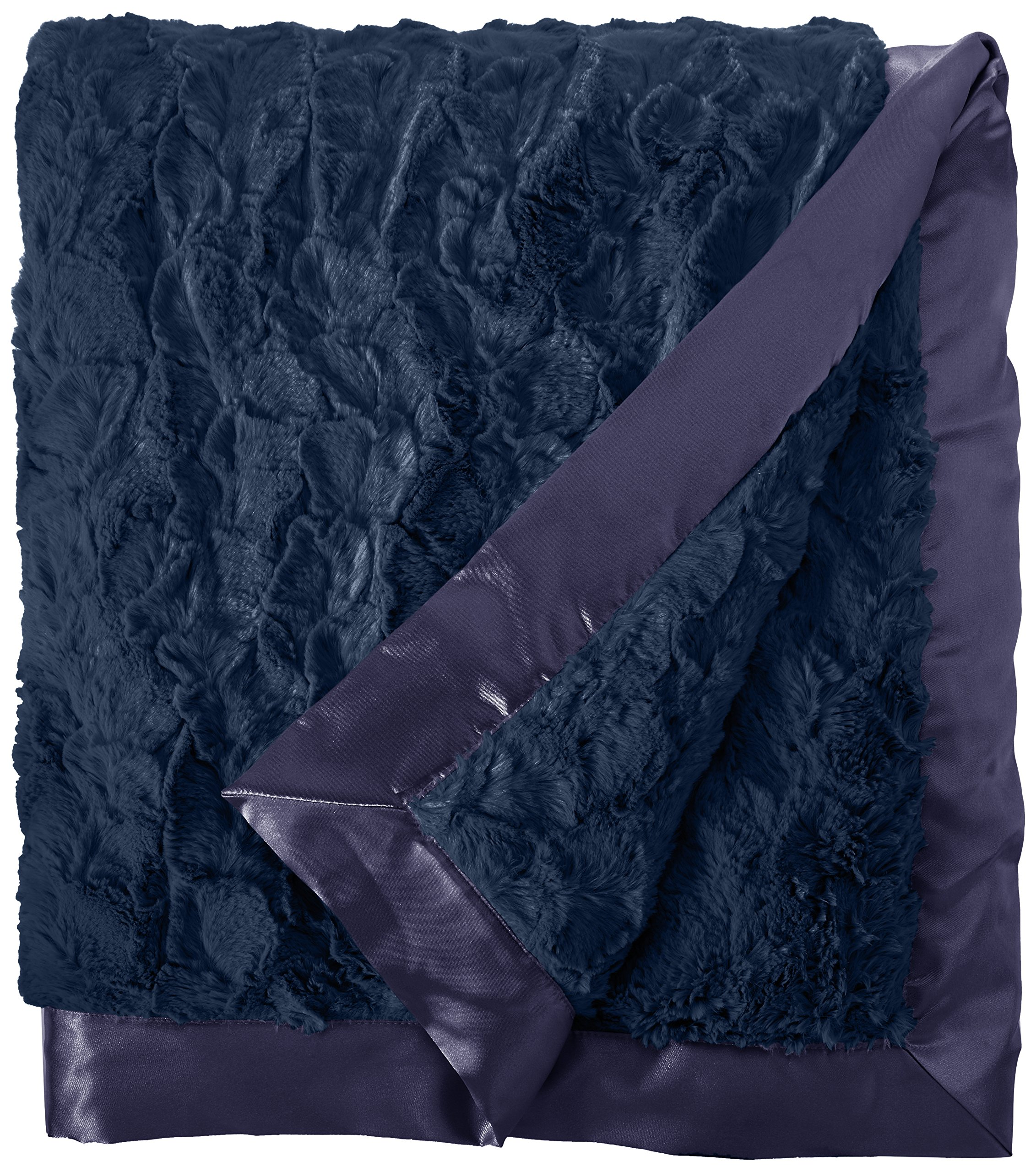 My Blankee Luxe Bella Super Throw Blanket, Navy, 60'' X 70''