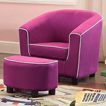 Charmant Millbury Home Joshua Kids Club Chair And Ottoman, Bright Pink