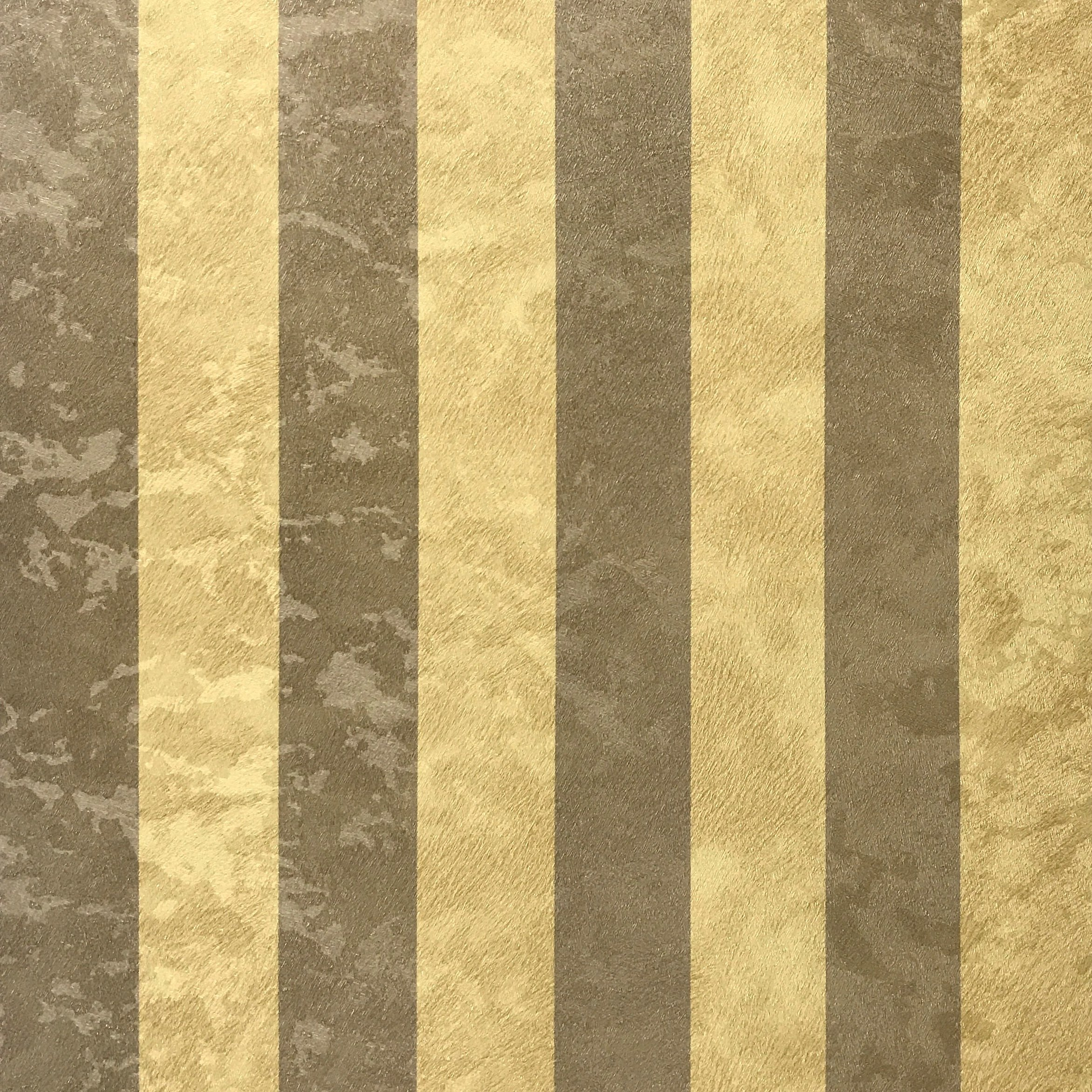 76 sq.ft Made in Italy Portofino textured wallcoverings rolls modern embossed Vinyl Wallpaper gold bronze metallic stripes mustard faux wool fabric striped lines design textures roll 3D wall coverings by Portofino
