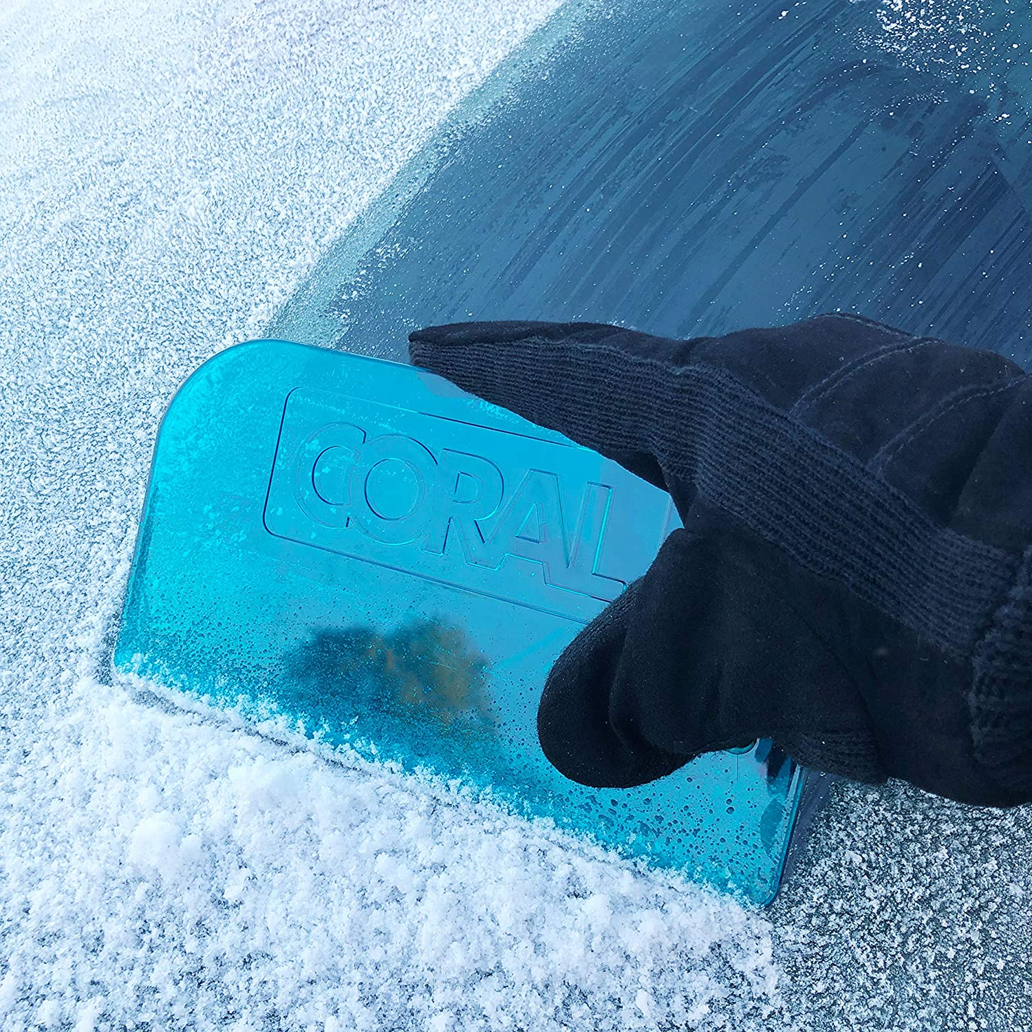 Blue Coral 69520 Ice Scraper Snow Remover and Rapid De-Icer for Car Windscreens The Original 8.2 Inch