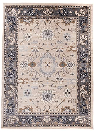 Amazon De Carpeto Orientteppich Teppich Hellbeige 140 X 200 Cm