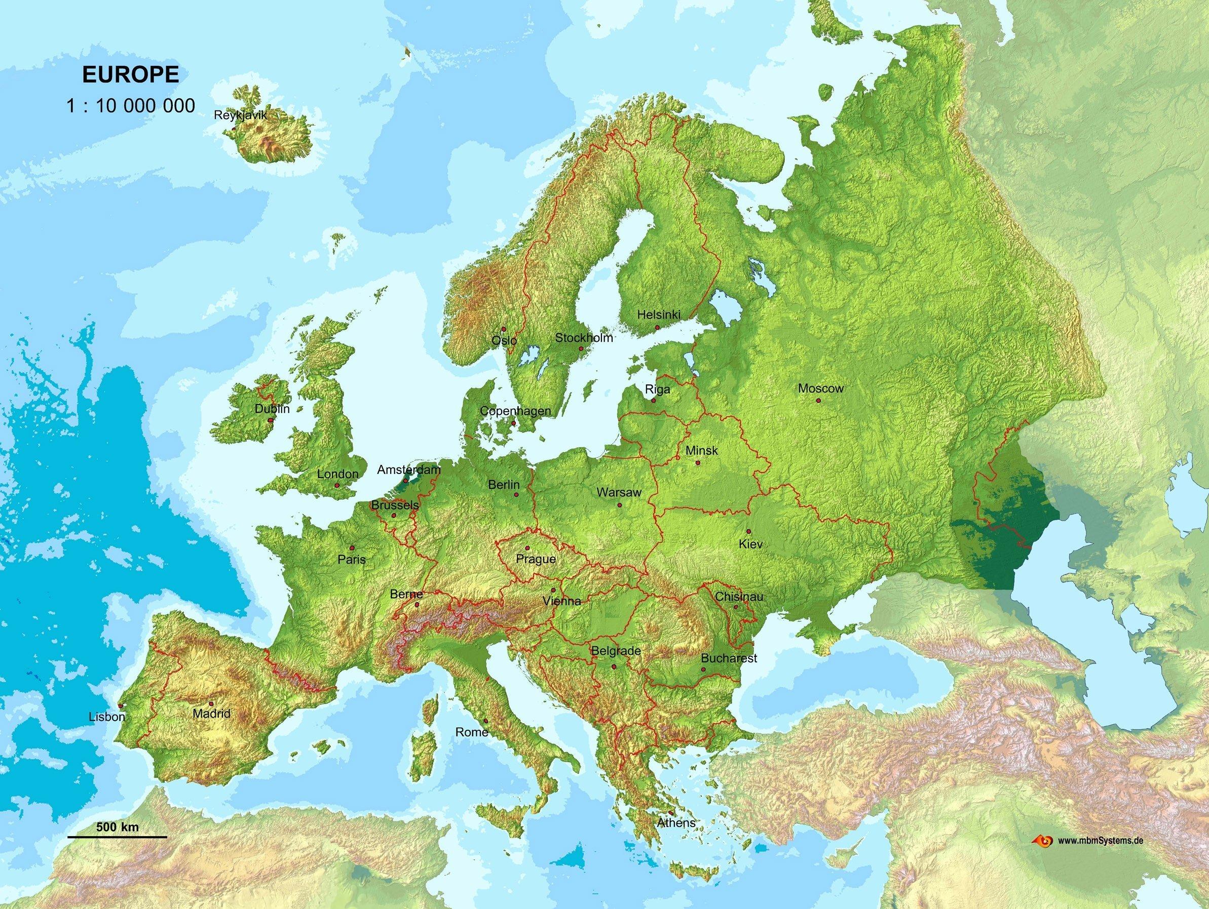 Karte Von Europa.Echt 3d Landkarte Europa Amazon De Mbmsystems Gmbh Bucher