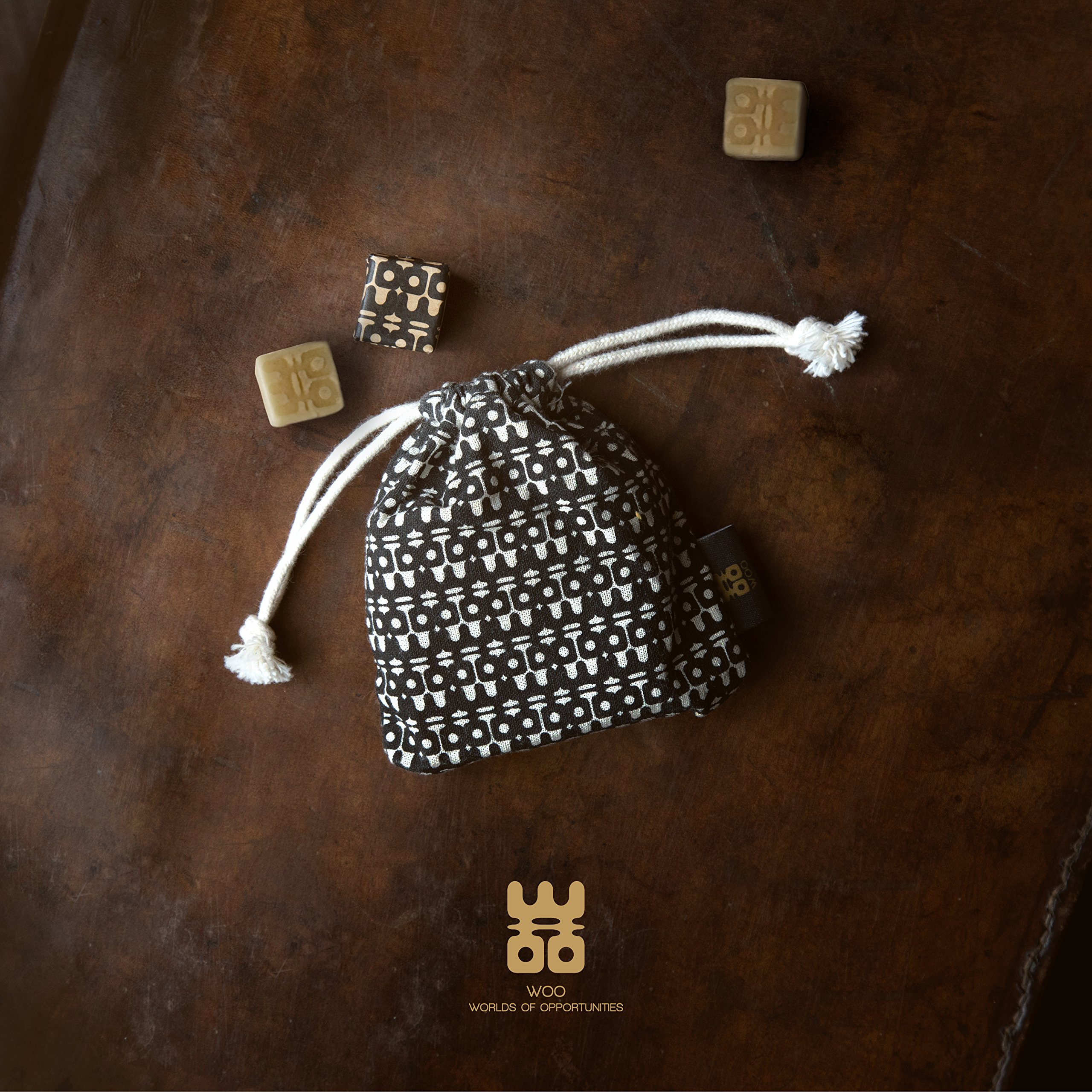 WOO Eco-Friendly Scented Sachets by Premium Handmade Beeswax Scented Cubes in an Exquisite Cotton Sachet | Perfect for Wardrobes, Drawers and Rooms | Lasts for Years (Treasure) by WOO (Image #6)