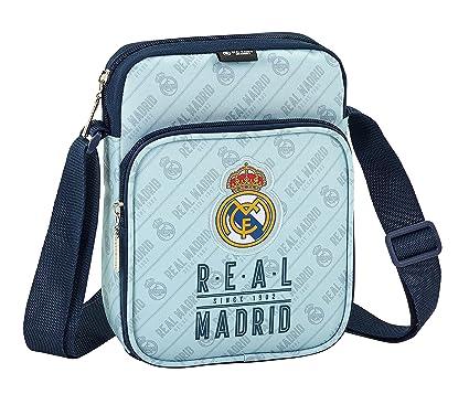 Safta Bandolera Real Madrid Corporativa Oficial Con Bolsillo Exterior 160x60x220mm