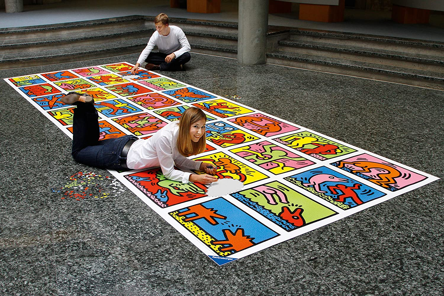 a 32,000 piece puzzle of Keith Haring's