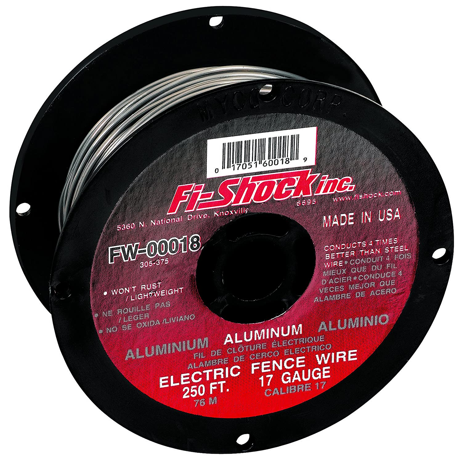fi shock fw d 250 feet 17 gauge spool aluminum