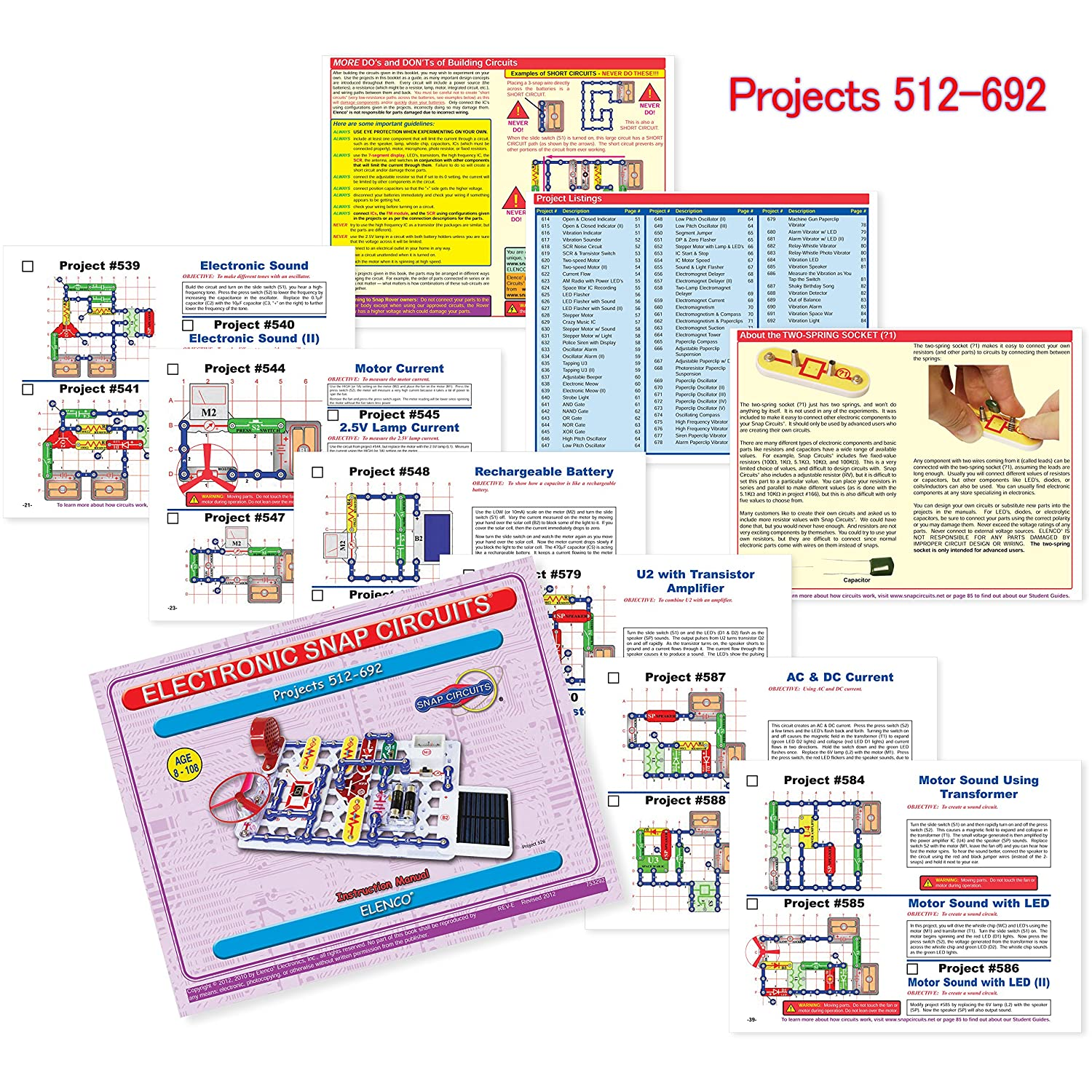 Snap Circuits Extreme Sc 750 Electronics Exploration Kit Over Circuit Stem Projects 4 Color