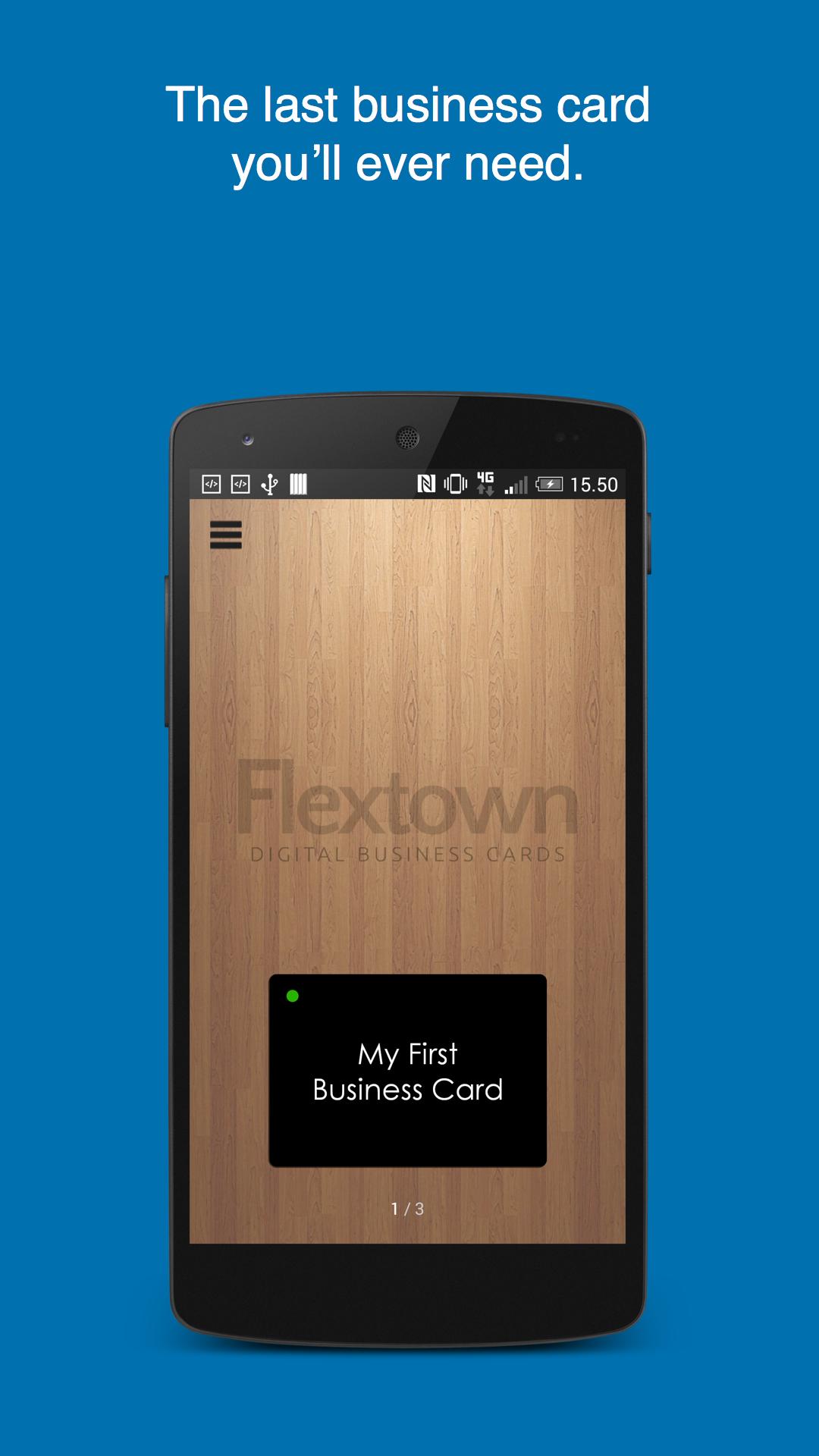 Digital Business Card : Amazon flextown digital business card appstore for