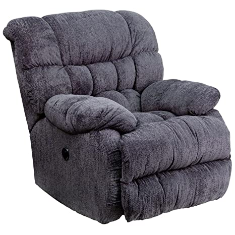 Groovy Flash Furniture Contemporary Columbia Indigo Blue Microfiber Power Recliner With Push Button Alphanode Cool Chair Designs And Ideas Alphanodeonline
