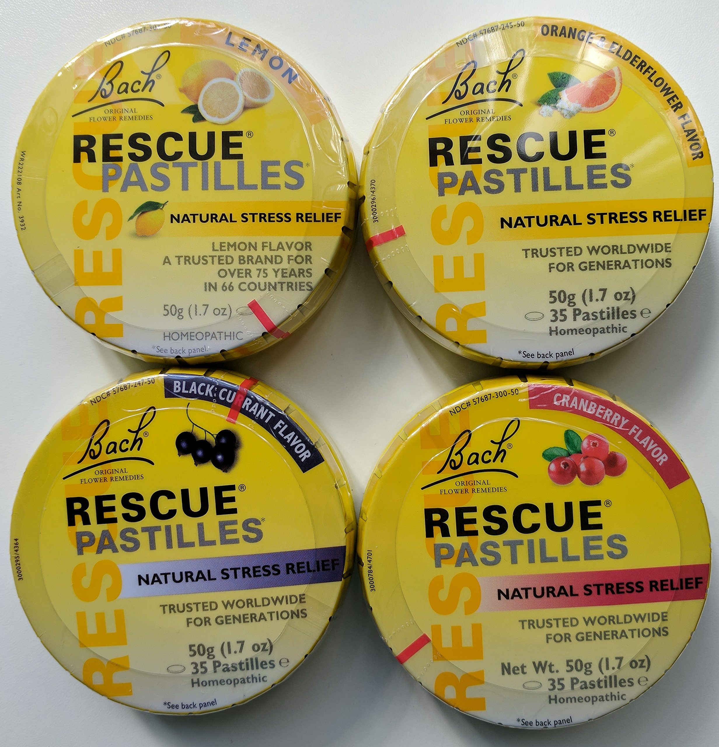 Bach Rescue Pastilles Variety Pack of 4 by Nelson (Image #1)