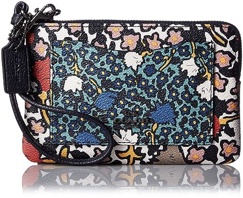 Coach - Cartera de mano con asa para mujer multicolor Dark Antique Nickel/Chalk Yankee Floral Multi: Amazon.es: Zapatos y complementos