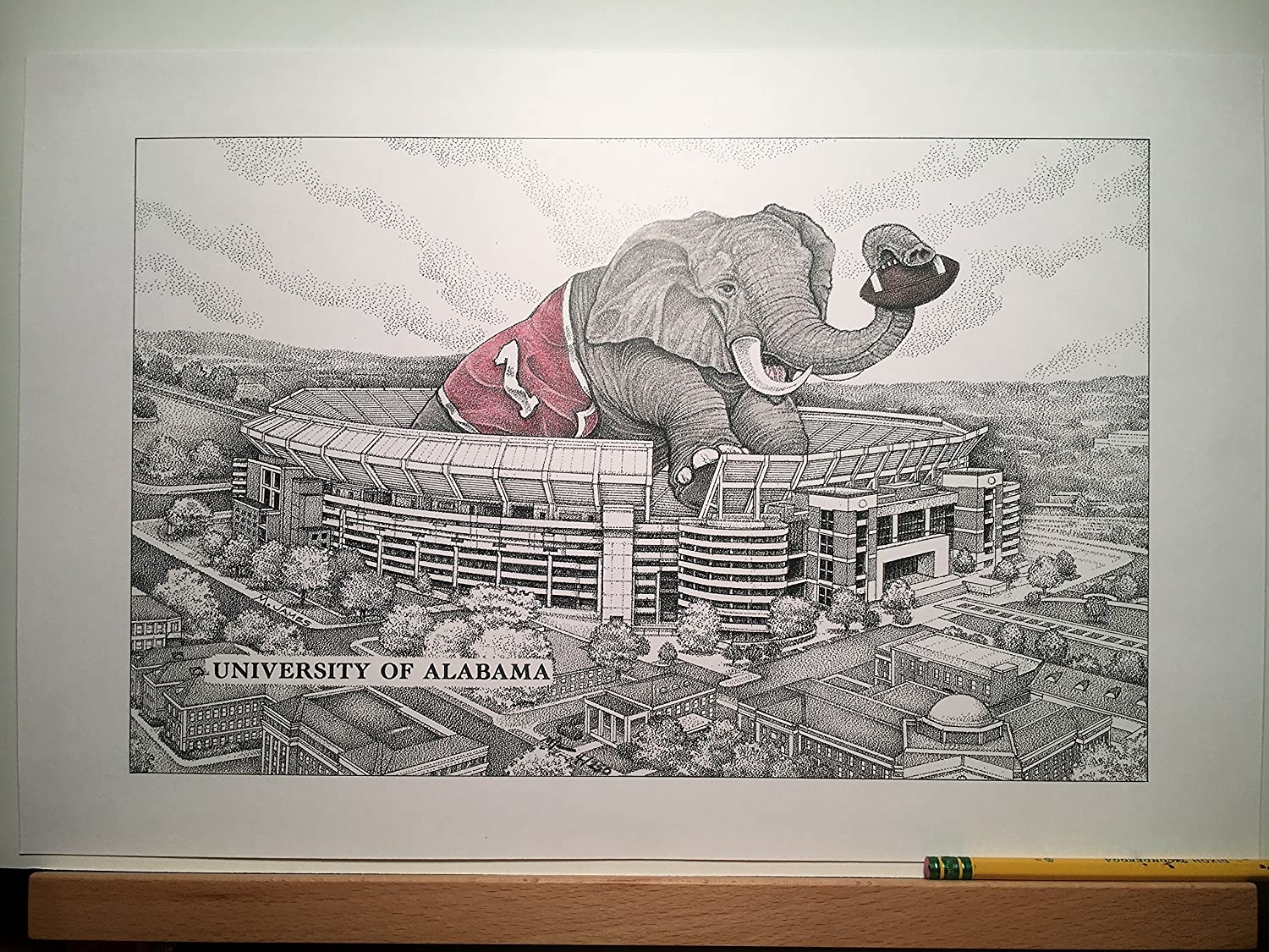 Alabama football stadium with elephant 11