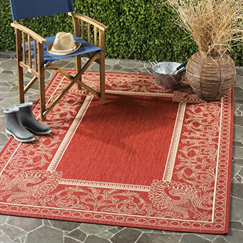 Safavieh Courtyard Collection CY2965-3707 Red and Natural Indoor Outdoor Area Rug 9 x 12
