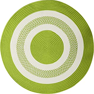 """product image for Crescent Round Area Rug, 8"""", Bright Green"""