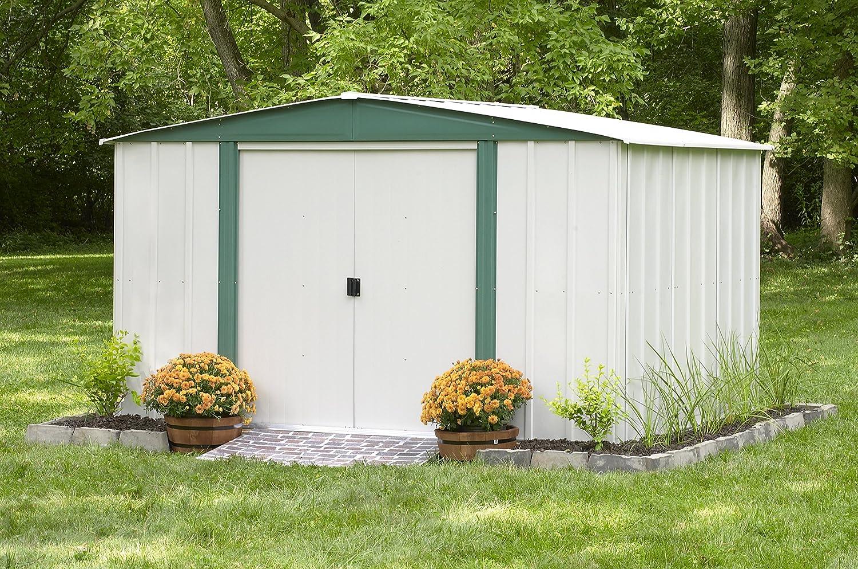 amazoncom arrow sheds hm108 hamlet steel storage shed 10 by 8 feet patio lawn garden