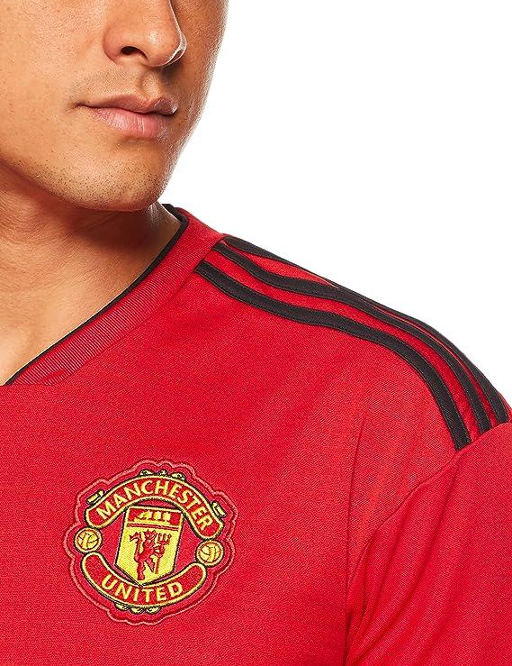 59694da0f Amazon.com   adidas 2018-2019 Man Utd Home Football Shirt   Sports    Outdoors