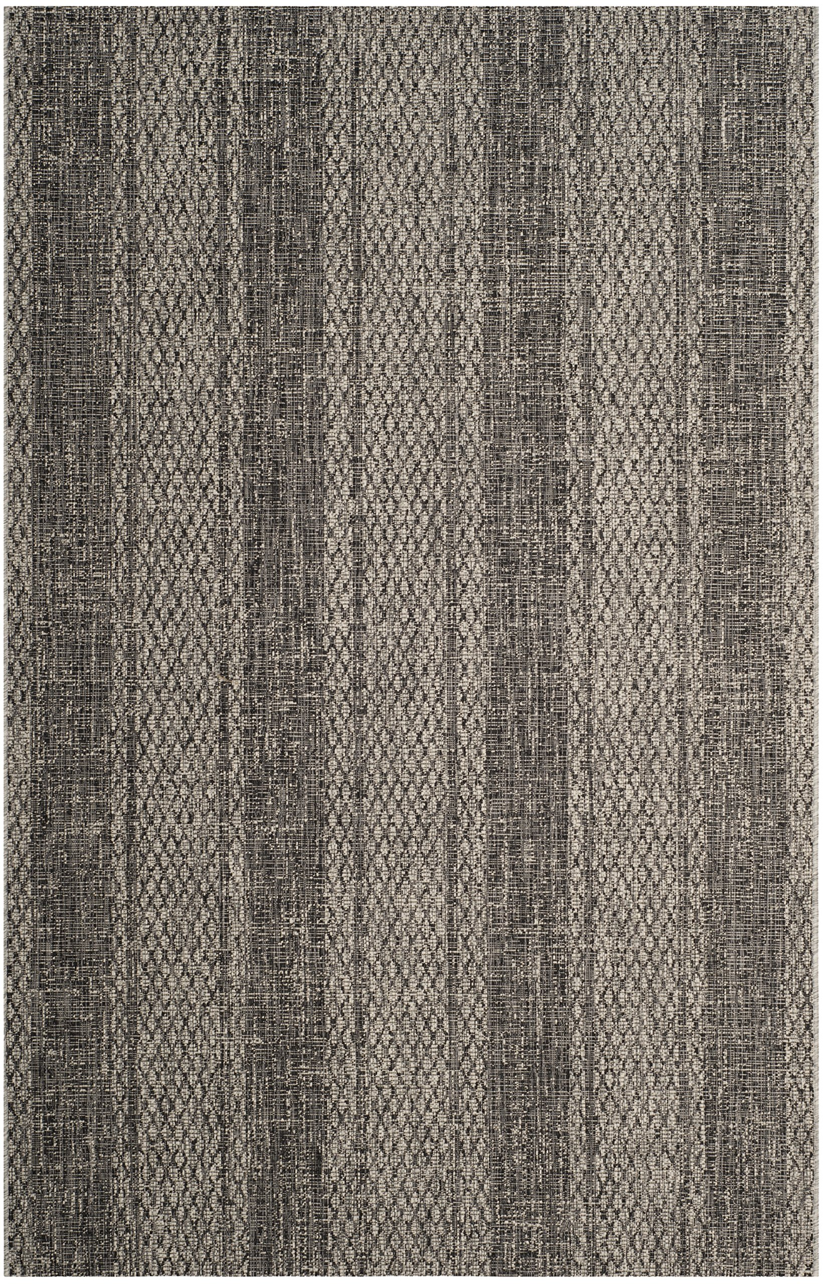 Safavieh Courtyard Collection CY8736-37612 Light Grey and Black Indoor Outdoor Area Rug (6'7'' x 9'6'')