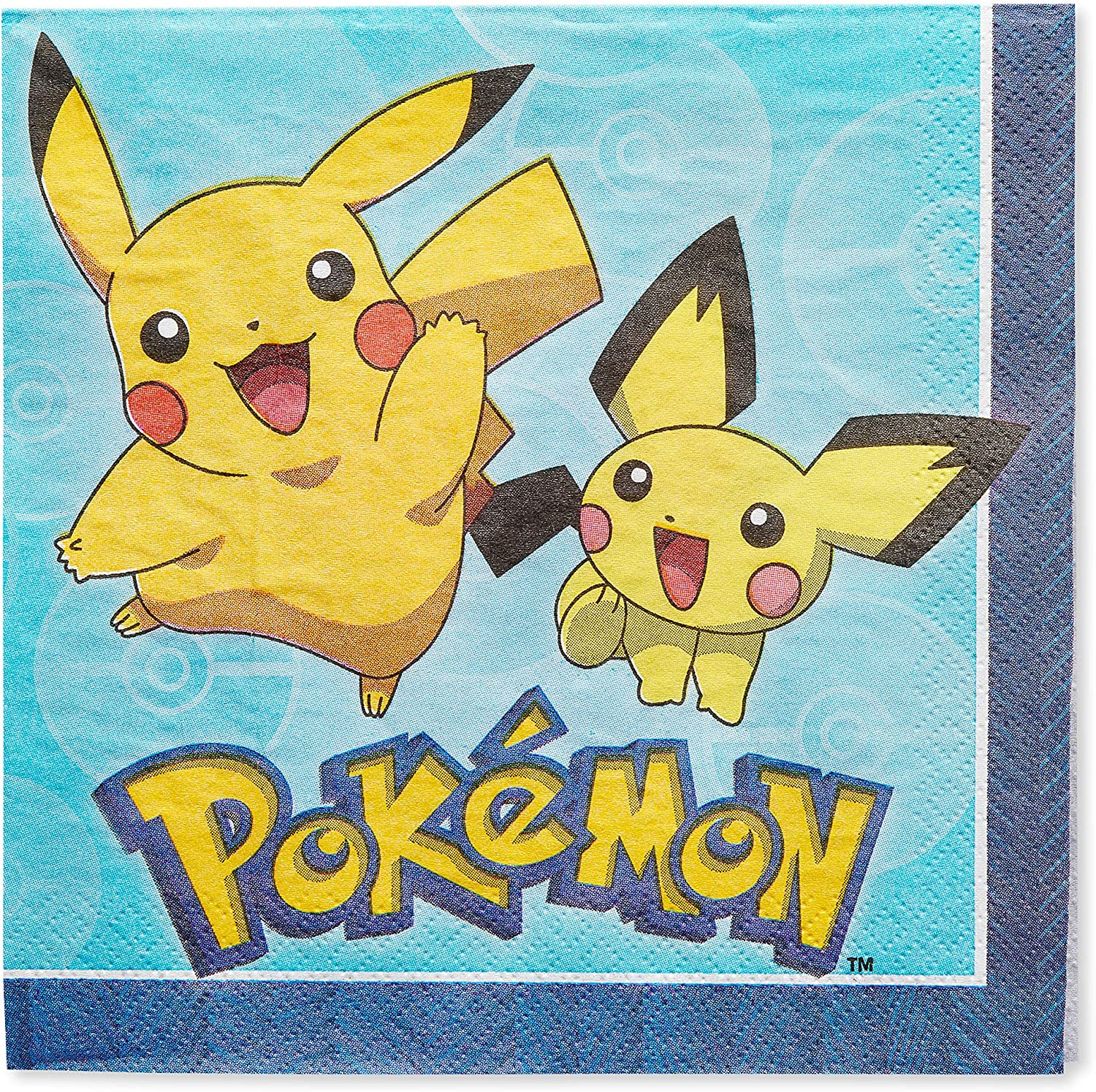 American Greetings Pokemon Paper Lunch Napkins for Kids (48-Count)