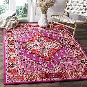 Safavieh Bellagio Collection Blg545a Handmade Medallion Premium Wool Area Rug 6 X 9 Red Pink Ivory Furniture Decor Amazon Com