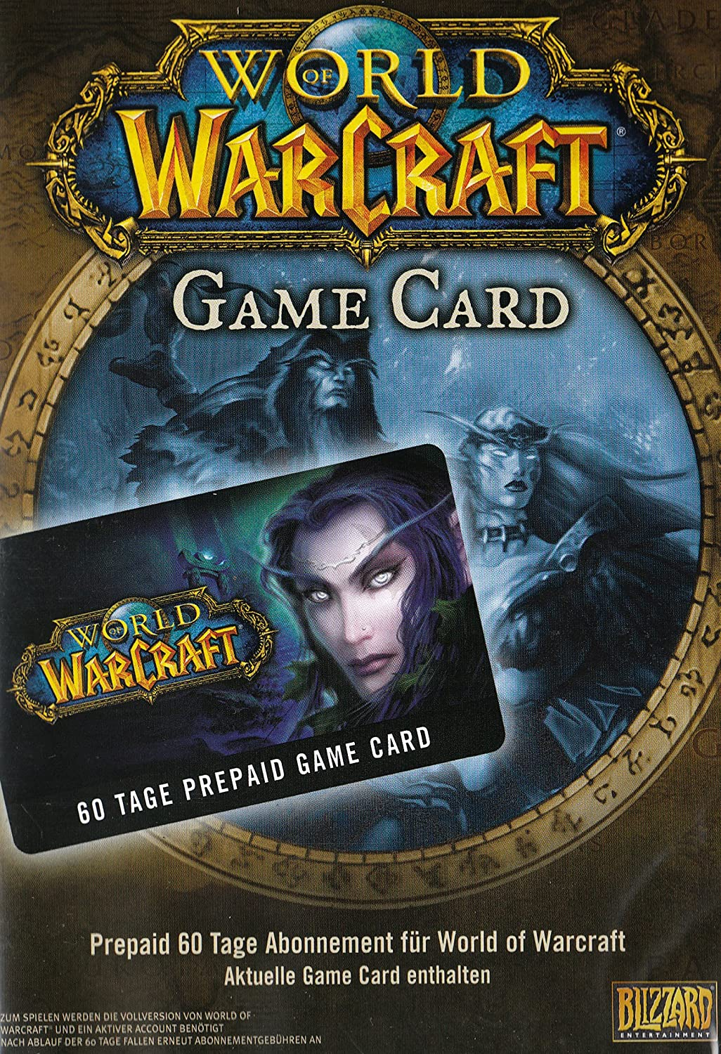 World of Warcraft WoW Gamecard 60 Tage