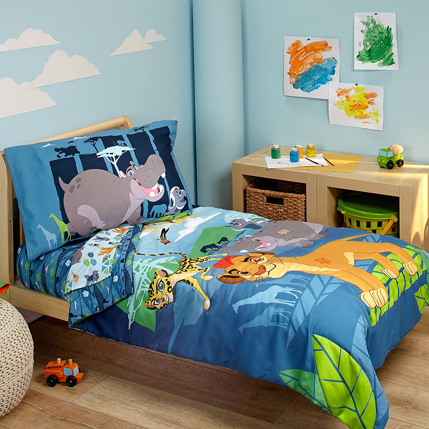 Amazon.com : Disney Lion Guard Prideland Adventures 4 Piece Toddler Bedding  Set : Baby