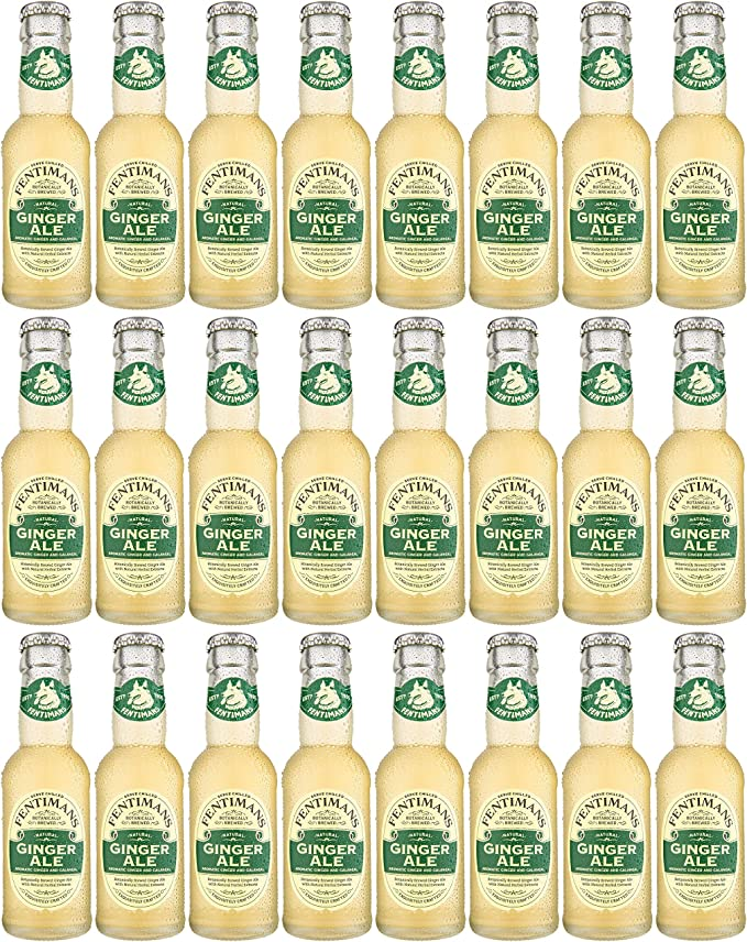Case of 24 x Fentimans Traditional Ginger Ale (Botanically Brewed Ginger Ale), 125ml