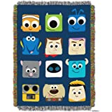 "Pixar, ""Pixarland"" Woven Tapestry Throw Blanket, 48"" x 60"""