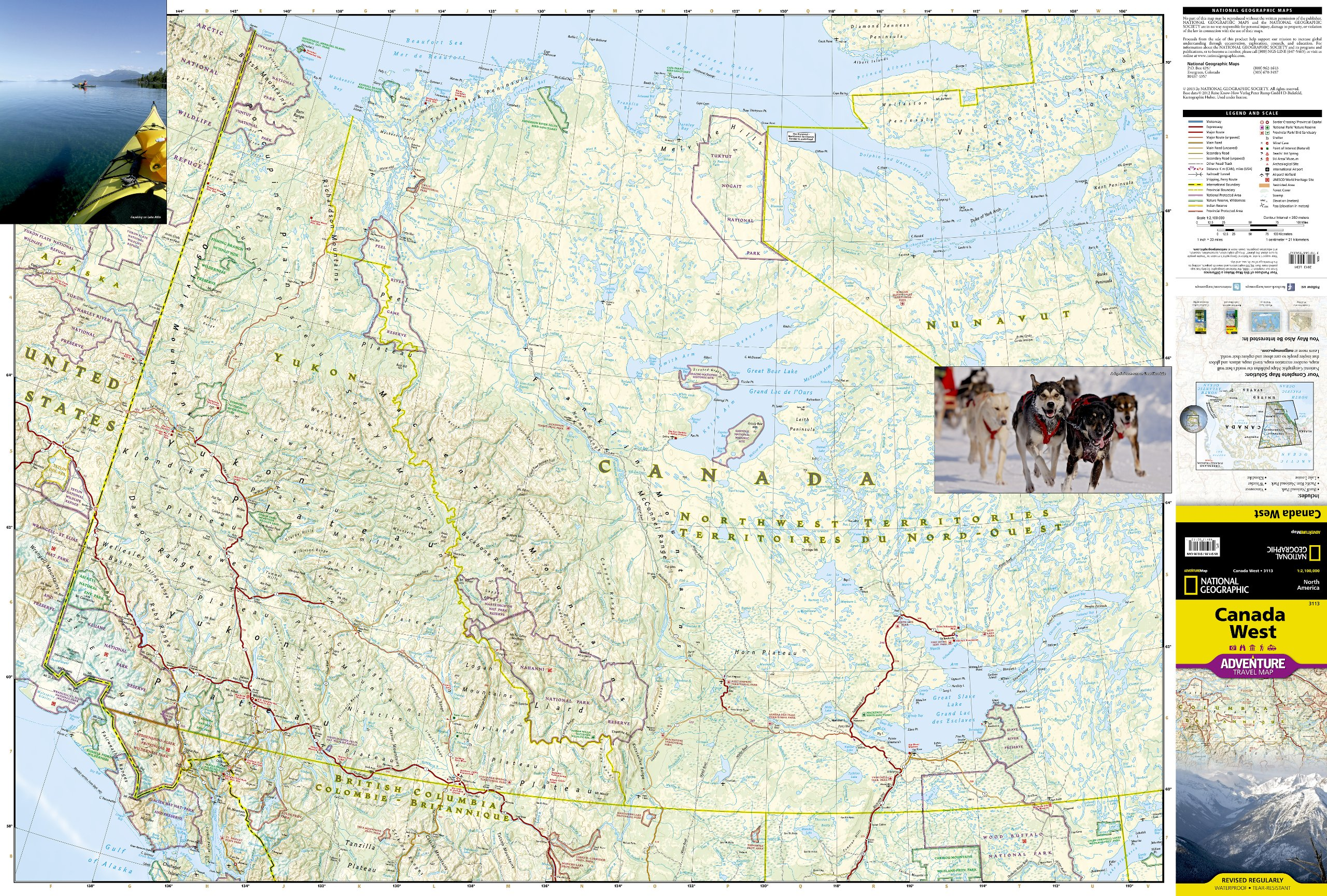 West Of Canada Map.Canada West National Geographic Adventure Map National Geographic