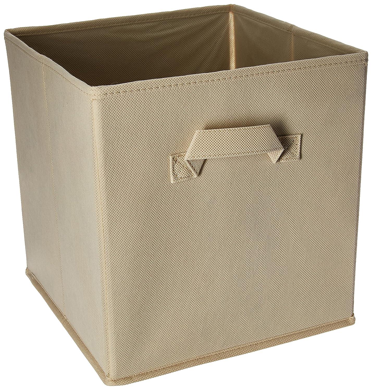 Charmant Amazon.com: Home Closet Organizer   Fabric Storage Basket Cubes Bins   6  Beige Cubeicals Containers Drawers,: Home U0026 Kitchen