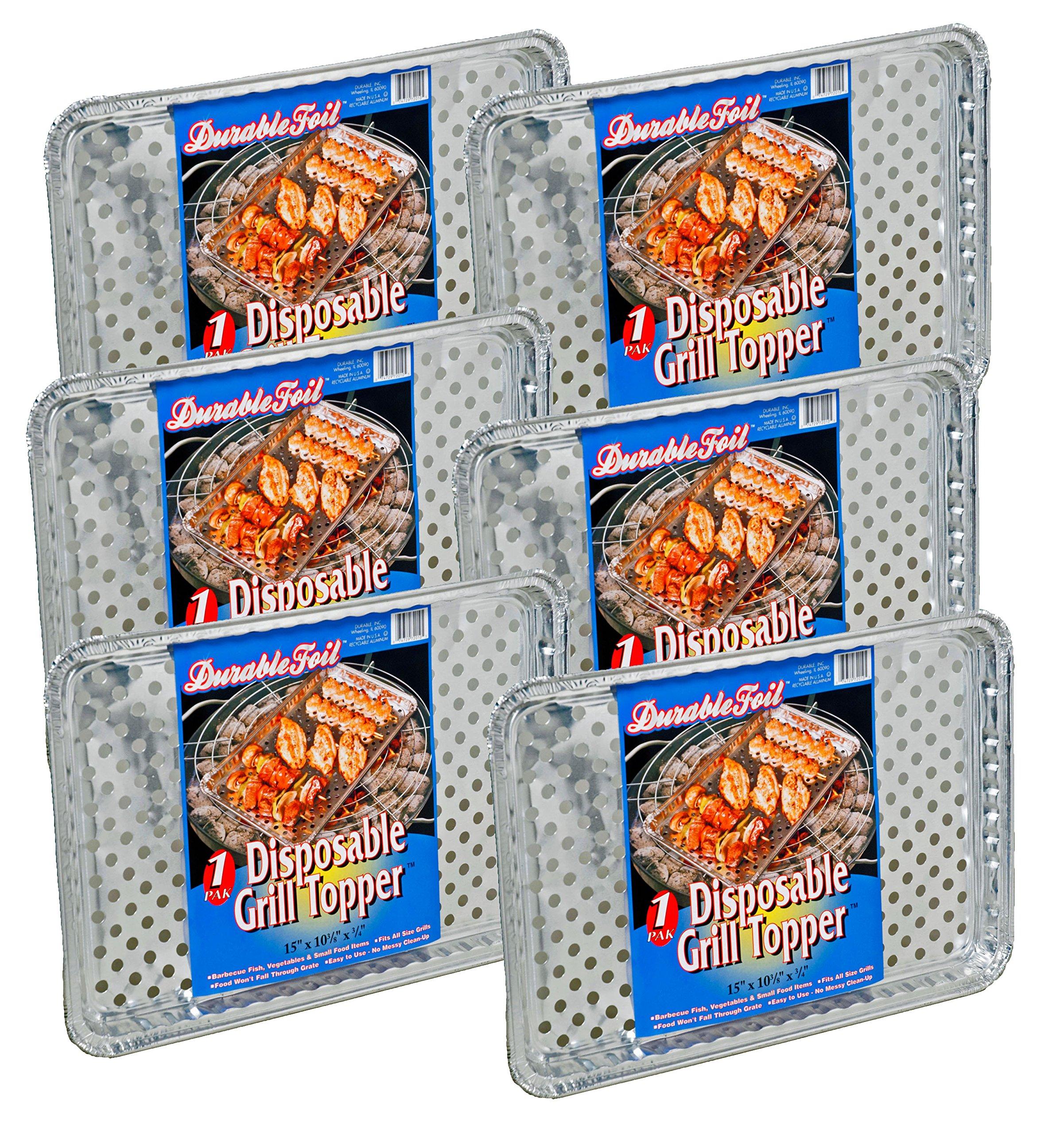 Set of 12 Durable Foil Disposable Deep Grill Topper Pans 11 3/4'' L x 9 1/4'' W x 1 1/2'' D by Durable (Image #2)