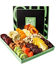 Oh Nuts Holiday Nut Dried Fruit Gift Basket Healthy Gourmet Christmas Variety Food