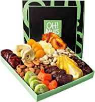 Holiday Nut and Dried Fruit Gift Basket, Healthy Gourmet Snack Christmas Food Box, Great for Birthday, Sympathy, Family...