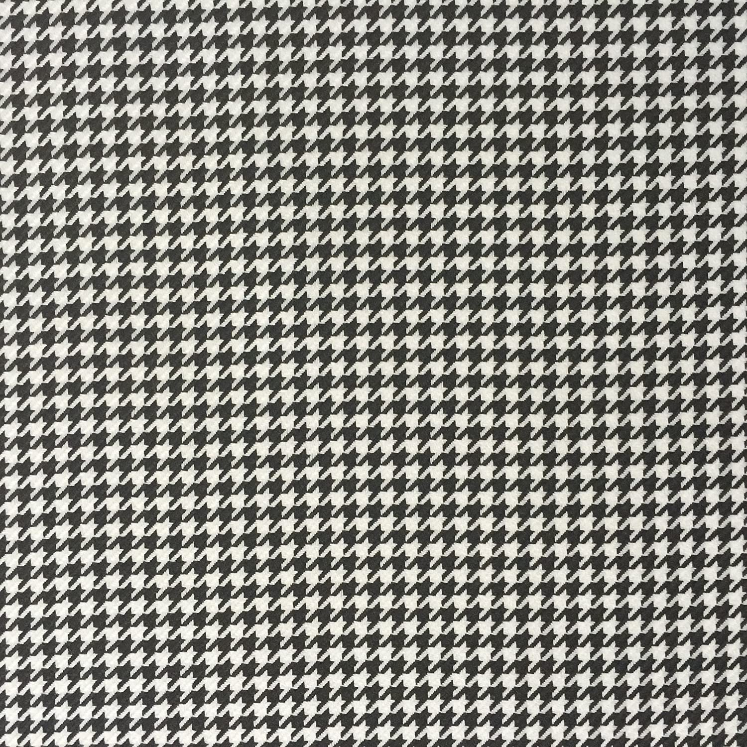 Black and White Dogs tooth Hounds Tooth Check Woven Fabric Dress making Sewing Quilting Skirts Sewing Skirts Bunting 59 inches Wide Sold by the Metre by