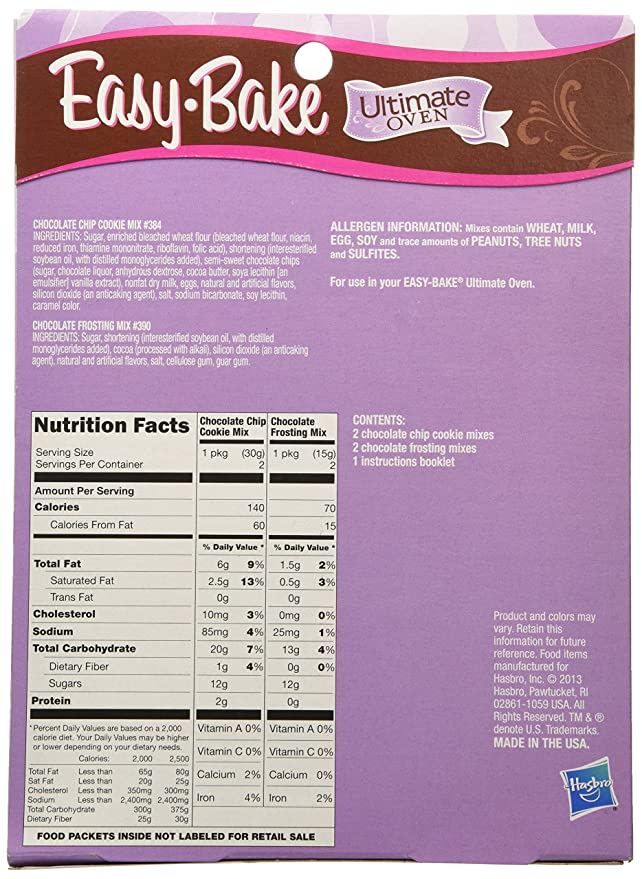 Amazon Easy Bake Ultimate Oven Chocolate Chip Cookies Refill