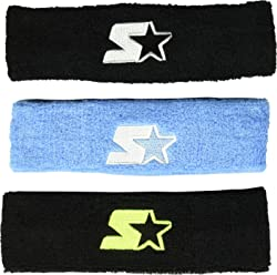 Starter Adult Unisex 3-Pack Headband, Prime Exclusive