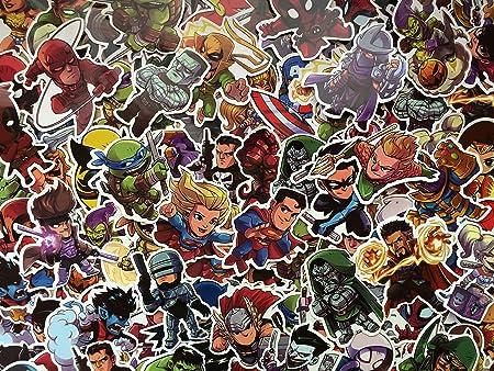 Sbs Lot De Stickers Super Heros Heros Chibi Enfant Logo