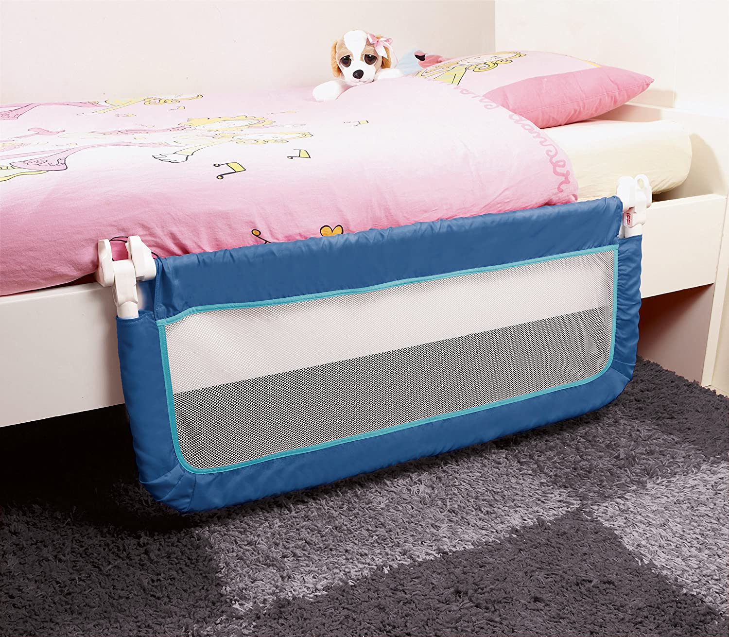 Safety 1st Portable Bed Rail Blue Amazoncouk Baby
